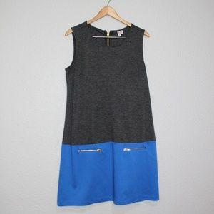 Madison Color Block Boxy Sleeveless Dress sz Large